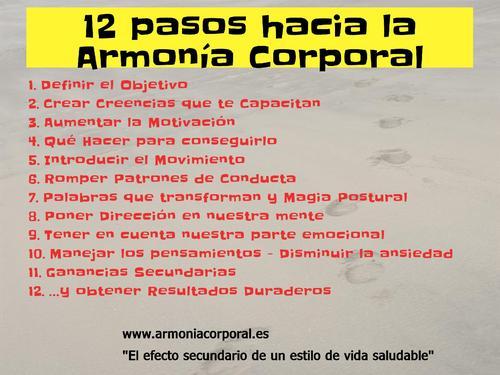 Adelgazar con Armonia Corporal. 12 pasos