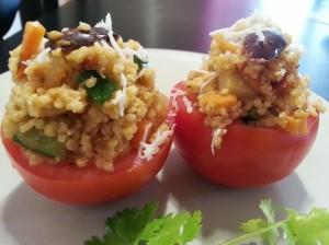 tomates rellenos con mijo para adelgazar