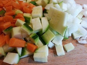 verduras para tomates rellenos