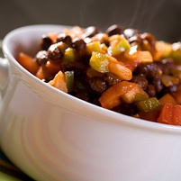 chili vegetariano con azuki para adelgazar