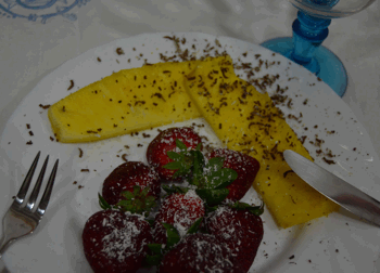desayuno con fresas