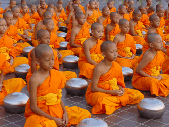 monjes budistas metafora coaching para adelgazar