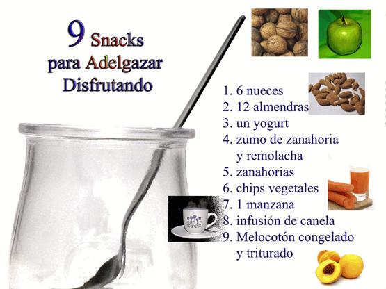 snacks merienda para adelgazar