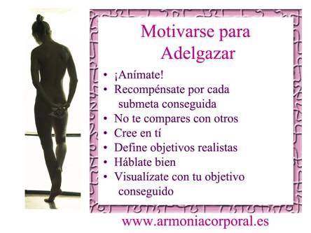 Motivarse para adelgazar