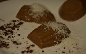 Delicias de agar agar coco y chocolate-