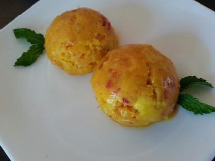 helado natural para adelgazar de albaricoque y mango