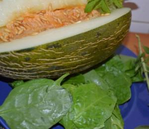 Ingredientes del batido verde de melón
