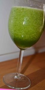Delicioso batido verde que te quiero verde de melón ;-)