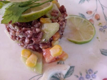 arroz rojo ensalada coaching nutricional