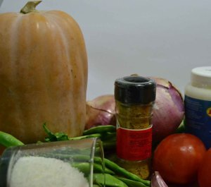 Ingredientes del Curry de Calabaza