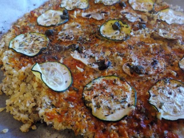 Pizza sin gluten de Quinoa y Brocoli