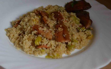 quinoa otoñal con setas para adelgazar. (1)