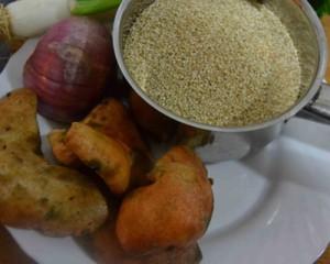 quinoa otoñal con setas para adelgazar.(2)