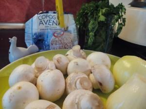 Ingredientes del paté de champiñones