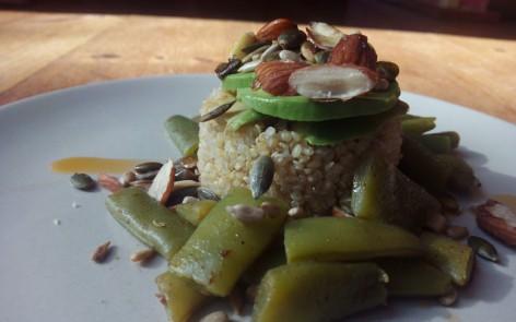 Quinoa con judías verdes para adelgazar disfrutando