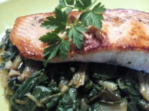 Salmon y acelgas para adelgazar disfrutando (1)