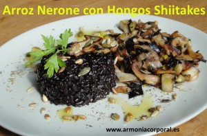 arroz nerone o negro con hongos shiitakes1
