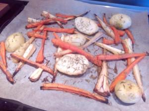 chirivia, zanahoria y patata