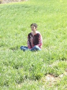 Mentxu da Vinci meditando
