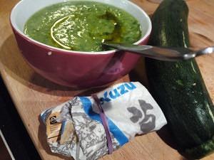ingredientes de la crema de calabacín y kuzú