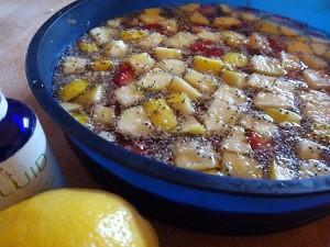 Preparando la gelatina de frutas