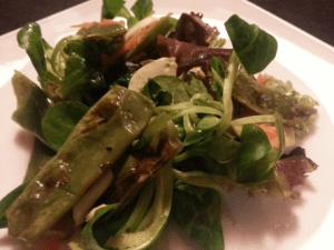 Ensalada de judías verdes con aliño de umeboshi