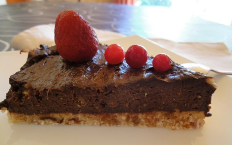 pastel de chocolate crudivegano