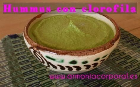 Hummus con clorofila