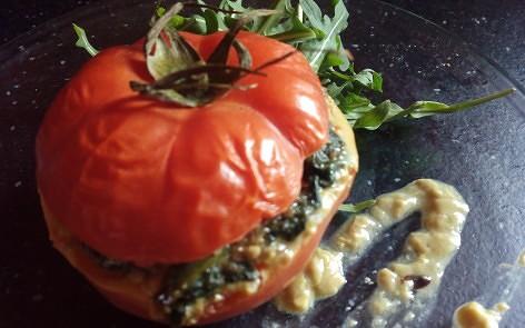 Tomates rellenos de espinacas para adelgazar (8)