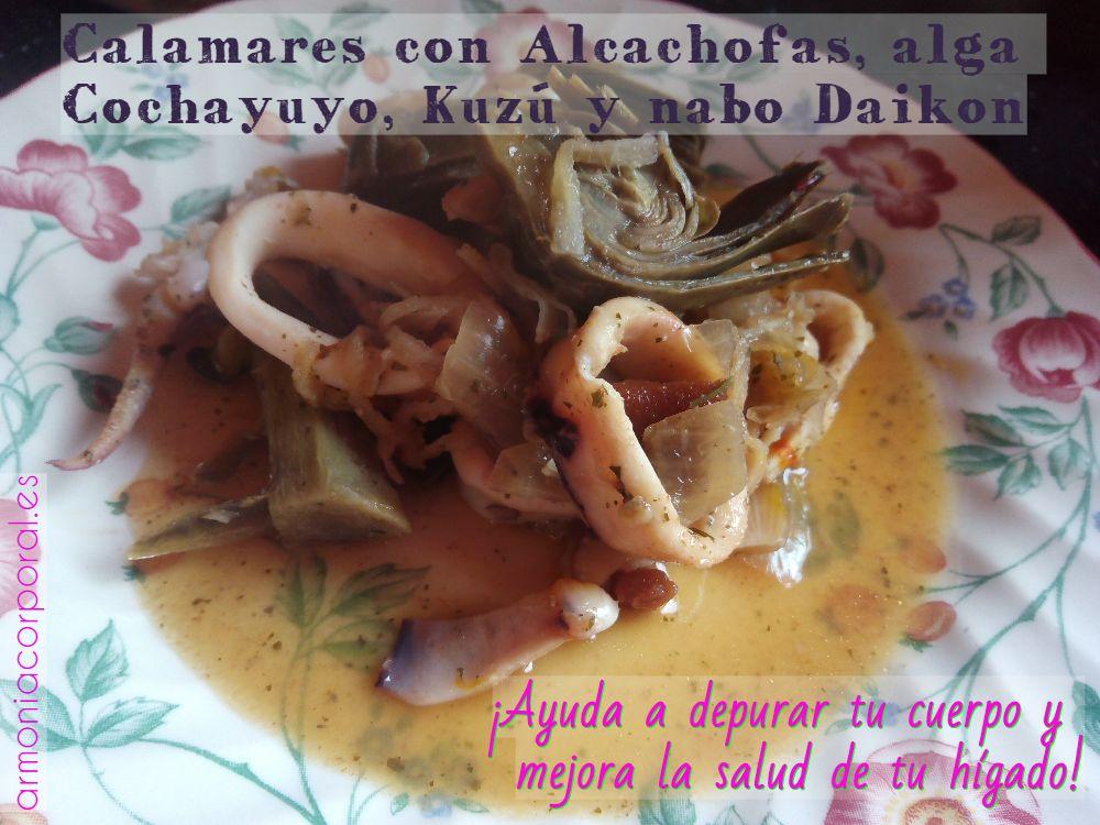 receta beneficiosa para el higado calamares kuzu daikon cochayuyo