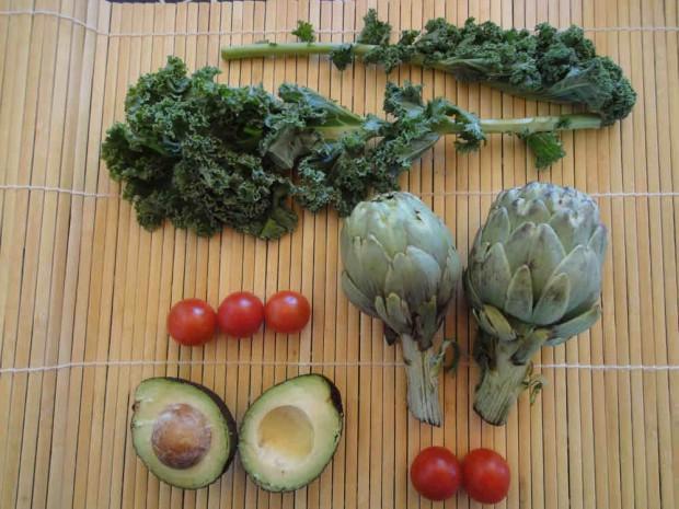 Ensalada de col Kale y alcachofas para adelgazar (3)