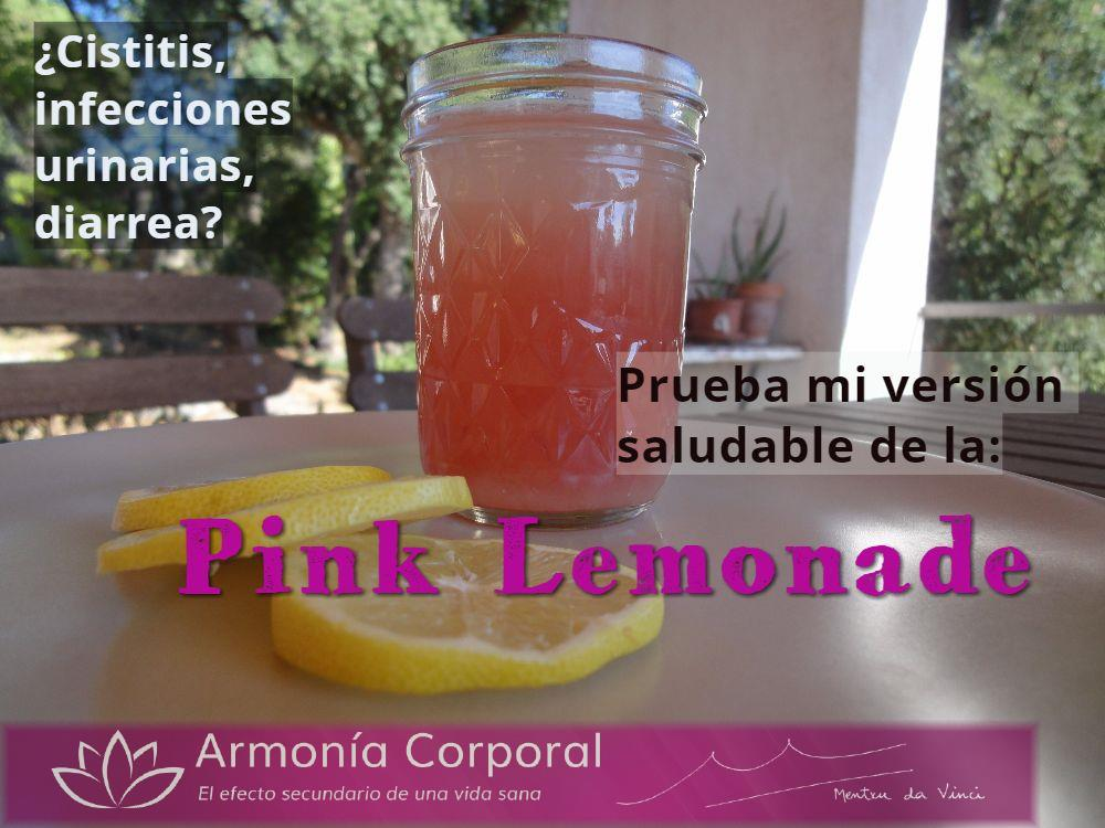 pink lemonade arandanos rojos cistitis